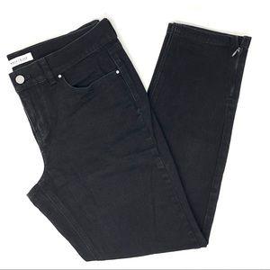 WHBM Noir Ankle Skinny Zipper Leg Jeans